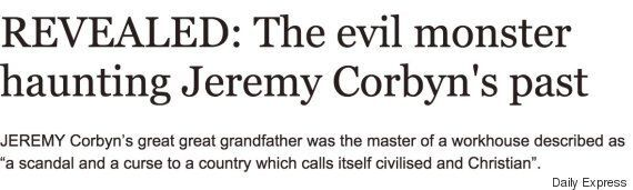 Jeremy Corbyn's Great Great Grandfather Mismanaged A Victorian Workhouse, Sunday Express