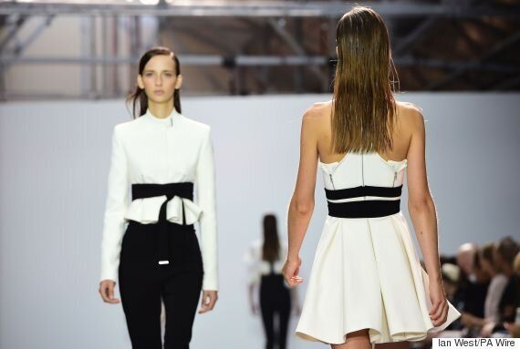 London Fashion Week Style Hack: Define Your Waist With Black Ribbon As Seen On The David Koma Spring/Summer...