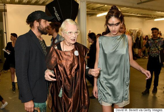 London Fashion Week: Vivienne Westwood Stages 'Fash Mob' Ahead Of Red Label Spring/Summer 16