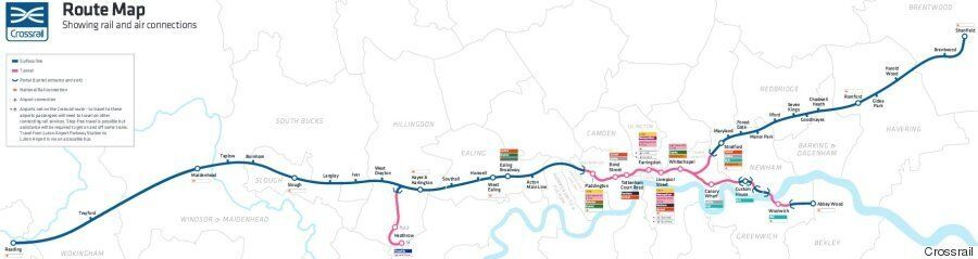 Crossrail Route Map: Elizabeth Line Tube route Shows How London's Underground Will Look Like By