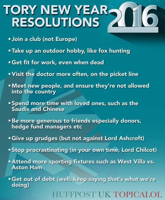 Conservative Party New Year's Resolutions