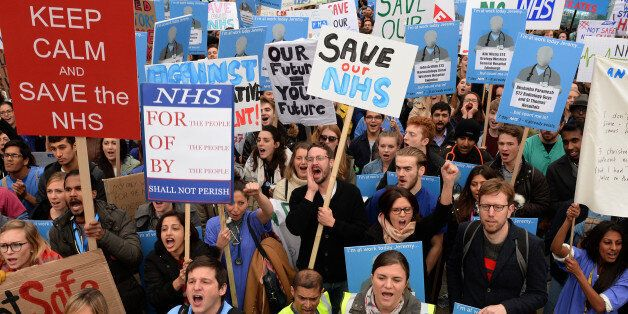 File photo dated 17/10/2015 of demonstrators listen to speeches in Waterloo Place during the 'Let's Save...