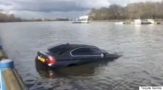Watch BMW Float Down The Thames After Being Left On Slipway At Putney