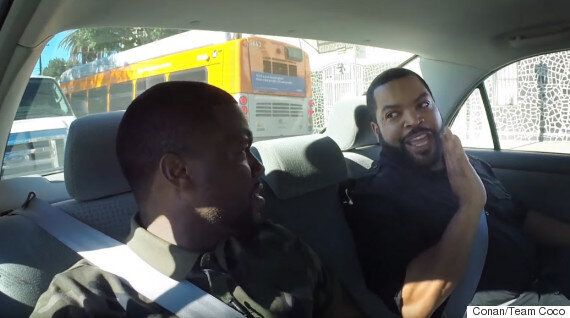 Conan O'Brien, Kevin Hart And Ice Cube Give The Weirdest Driving Lesson
