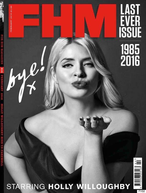Holly Willoughby Is FHM Magazine's Last Ever Cover Girl As 'This Morning' Host Poses In One Final Sexy...