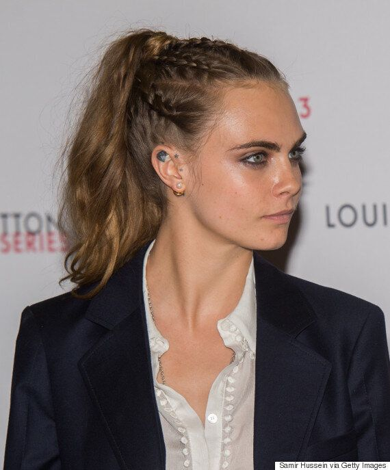 London Fashion Week: Cara Delevingne Rocks Braid Pony At Louis Vuitton