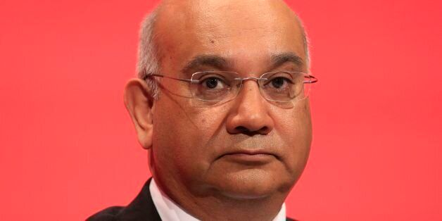 Keith Vaz sits on the stage during the second day of the Labour Party conference in the Brighton Centre...