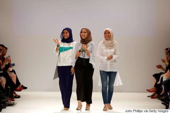 Does The Hijab Have A Place At London Fashion Week? Designers Mimpikita Prove It
