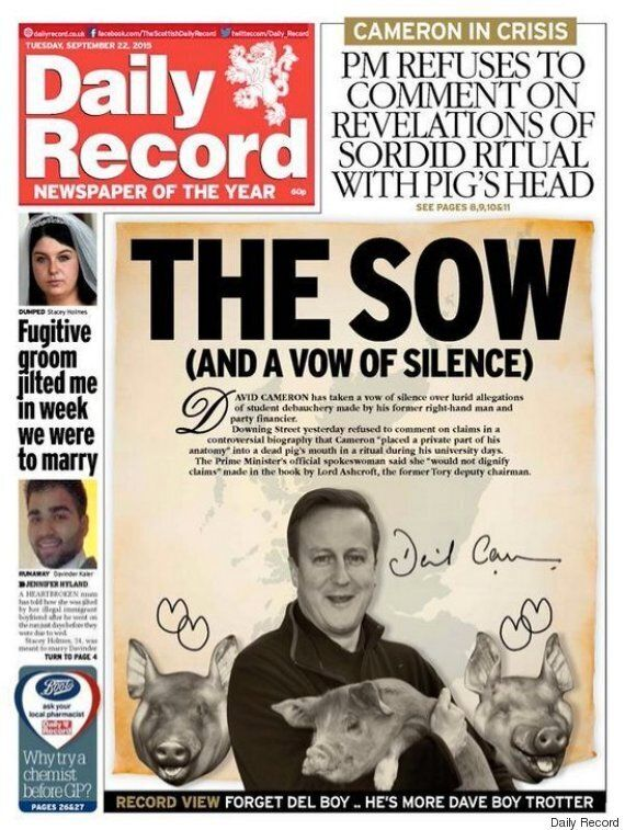 David Cameron Pig Allegations Given Scathing Treatment By Scottish