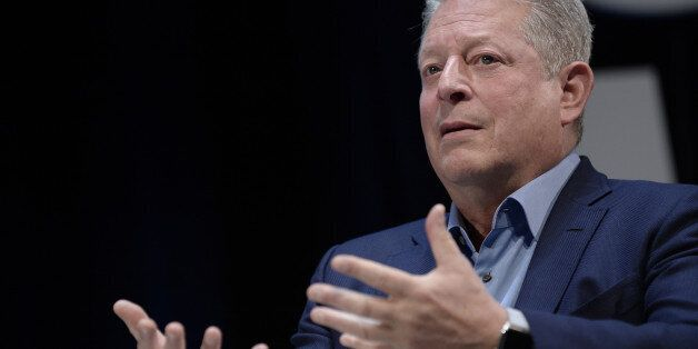 CANNES, FRANCE - JUNE 26: Al Gore talks on stage during the WPP seminar as part of the Cannes Lions International...