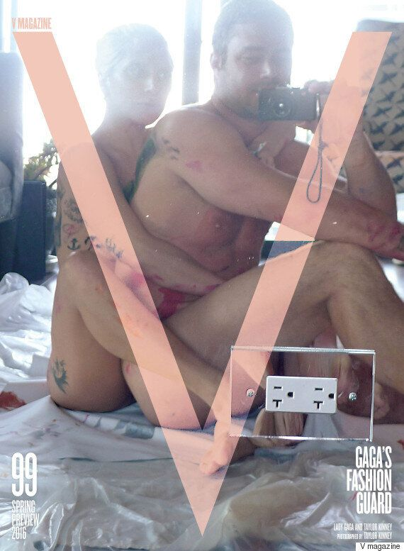 Lady Gaga Gets Naked With Fiancé Taylor Kinney For V Magazine Cover