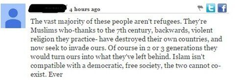 The Comment Section on the Refugee Crisis is an Unsurprisingly DARK