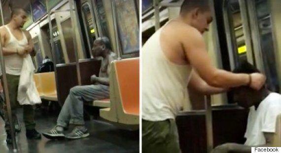 New York Metro Passenger Filmed Giving Shivering Man On Subway His