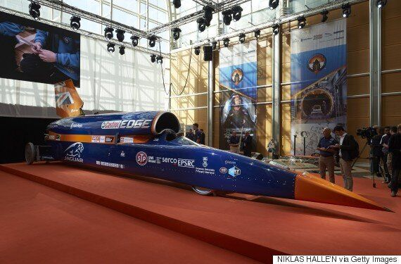 Bloodhound SSC Makes World Debut Ahead Of 1,000 MPH Record-Breaking