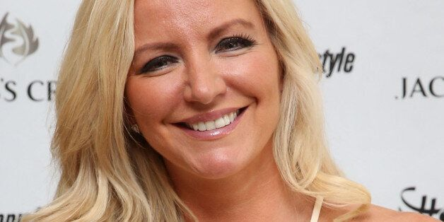 Michelle Mone arrives at the Jacobs Creek VIP marquee on day six of the Wimbledon Championships at the...
