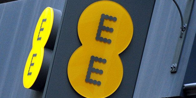File photo dated 02/09/13 of an EE shop sign as EE is still generating the most landline and broadband...