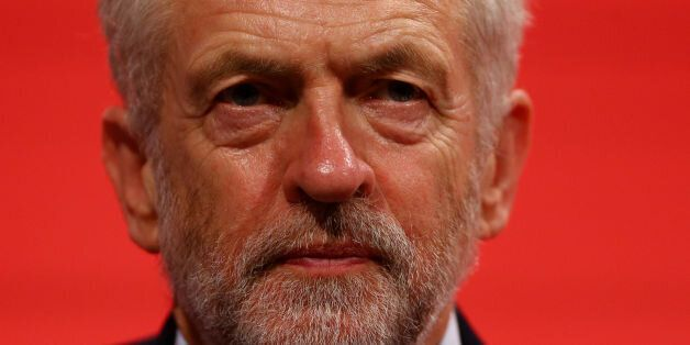 Labour leader Jeremy Corbyn at the end of final day of the annual Labour party conference at the Brighton...
