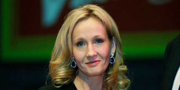 FILE - In this Thursday, Sept. 27, 2012 file photo, British writer J.K. Rowling poses for photographers...