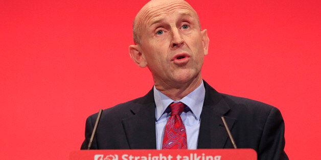 Shadow Housing Minister John Healey speaks during the third day of the Labour Party conference at the...