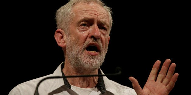 British lawmaker Jeremy Corbyn addressing a meeting during his election campaign for the leadership of...