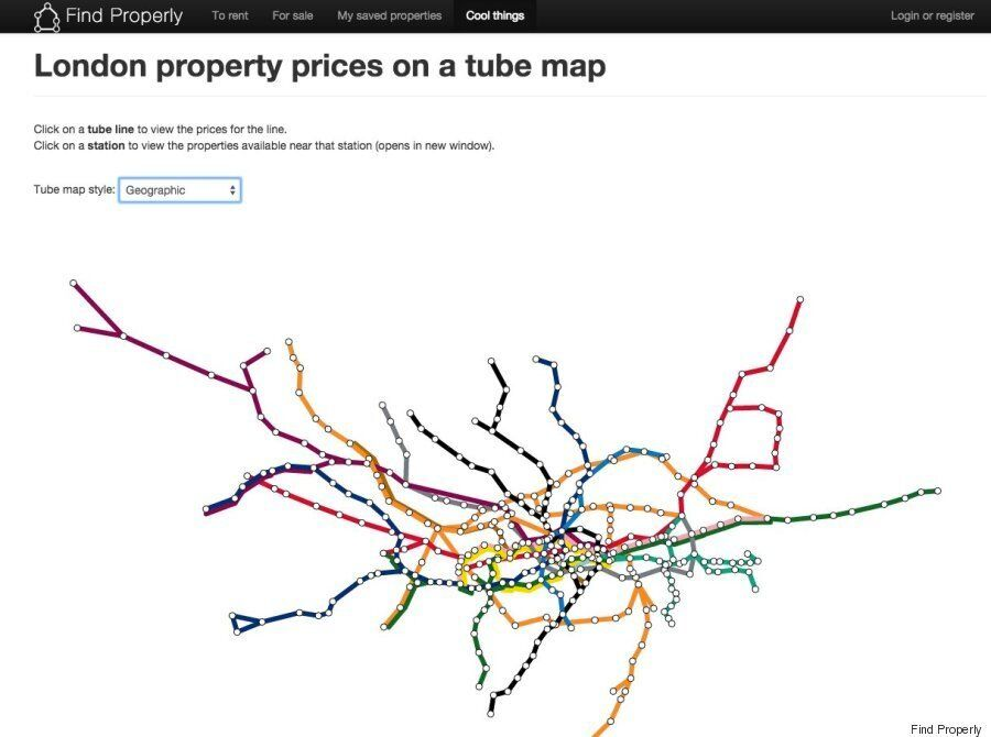 London Underground Rent Map Shows Most Expensive Places To Live On Capital's Transport