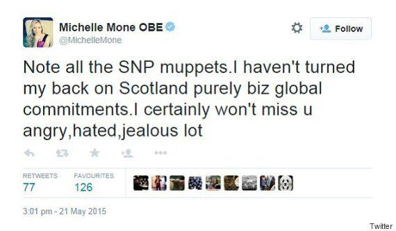 Michelle Mone Hits Out At 'Angry, Hated, Jealous SNP Muppets' As Ultimo Boss Quits