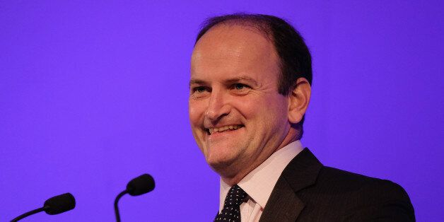 DONCASTER, ENGLAND - SEPTEMBER 26: Douglas Carswell MP speaks to party members and supporters during...
