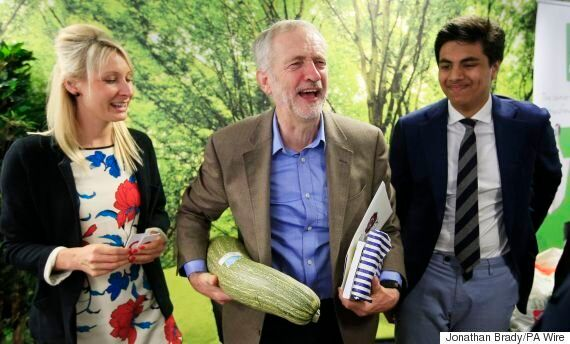 Jeremy Corbyn Holds Giant Marrow Ahead Of Make-Or-Break Labour Party