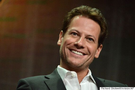Actor Ioan Gruffudd Celebrates Wales Rugby Victory Over England In His Boxer