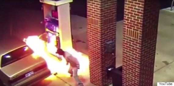 Driver Attempts To Scare Spider Using Lighter, Sets Petrol Station On