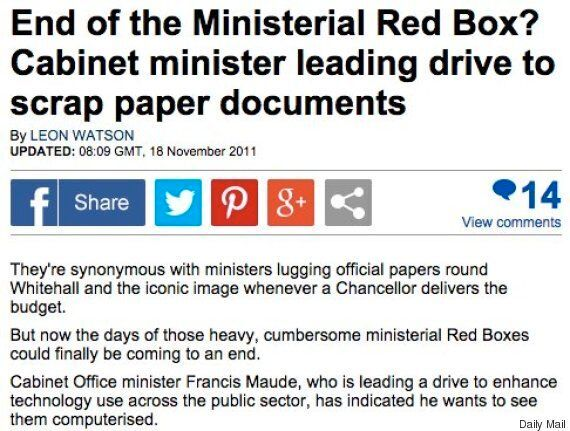 Chauffeur-Driven Cars Carried Only Ministerial Papers Around 2,000 Times Despite 'Red Box'