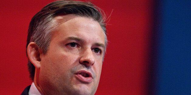 BRIGHTON, ENGLAND - SEPTEMBER 29: Shadow Minister Without Portfolio Jonathan Ashworth speaks to delegates...