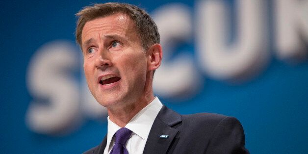 Secretary of State for Health Jeremy Hunt during the Conservative Party Conference 2014, at The ICC