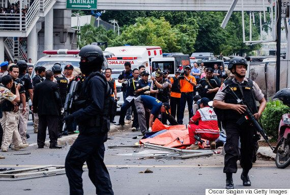 Jakarta Attacks: Seven Dead After Militants Open Fire And Detonate Bombs In Indonesian