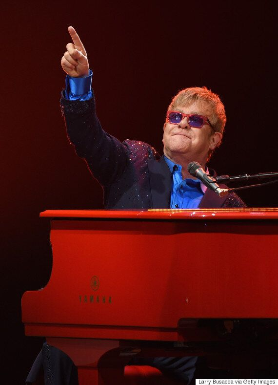 Elton John Remembers David Bowie With Cover Of 'Space Oddity' In Emotional