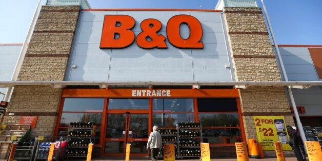 A customer enters a B&Q home improvement