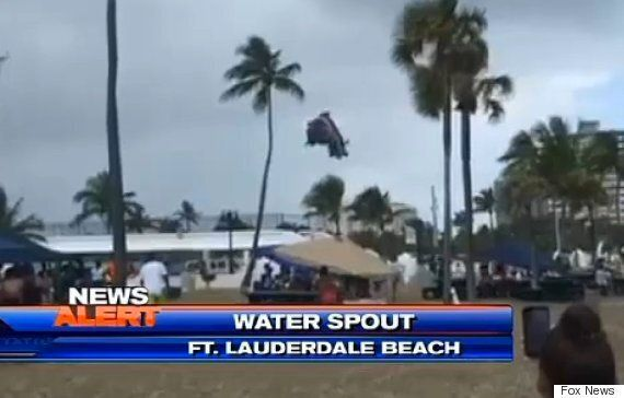 Children Injured After Florida Waterspout Hurls Bouncy Castle Into The