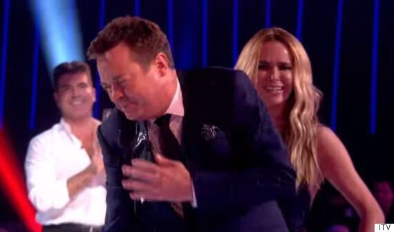 Amanda Holden Drenches 'Britain's Got More Talent' Host Stephen Mulhern With Water After Age Jibe