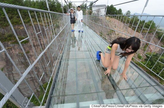 China Opens Terrifying Giant Glass Suspension