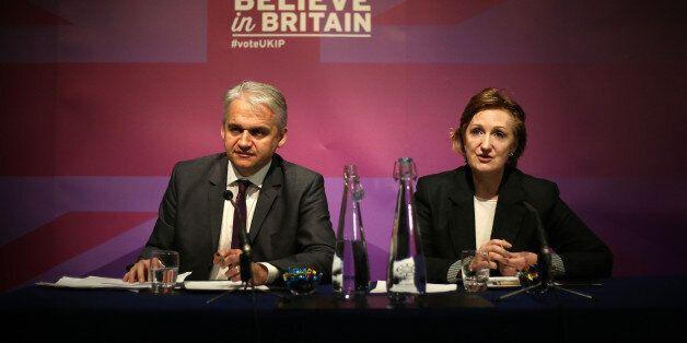Ukip economic spokesman Patrick O'Flynn and Ukip deputy chairman Suzanne Evans speaking about housing...