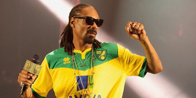 NORWICH, ENGLAND - MAY 23: Snoop Dogg performs on stage at BBC Radio 1's Big Weekend Norwich 2015 - Day...