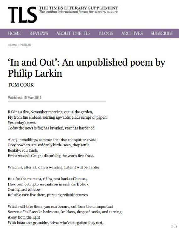 TLS Prints 'Previously Unpublished' Philip Larkin Poem That Wasn't Actually Written By Him, Twitter Has...