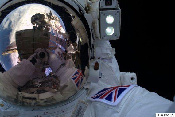 Tim Peake Posts Selfie Taken During Briton's 'Exhilarating' First