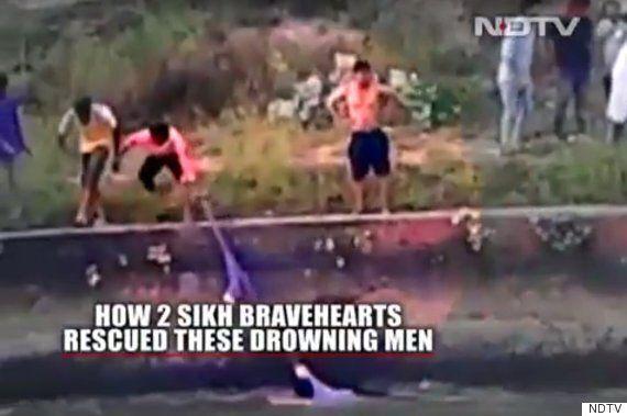 Hero Sikhs Break Strict Religious Turban Protocol To Save Four Drowning