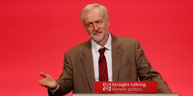 Labour Leader Jeremy Corbyn delivers his first keynote speech during the third day of the Labour Party...