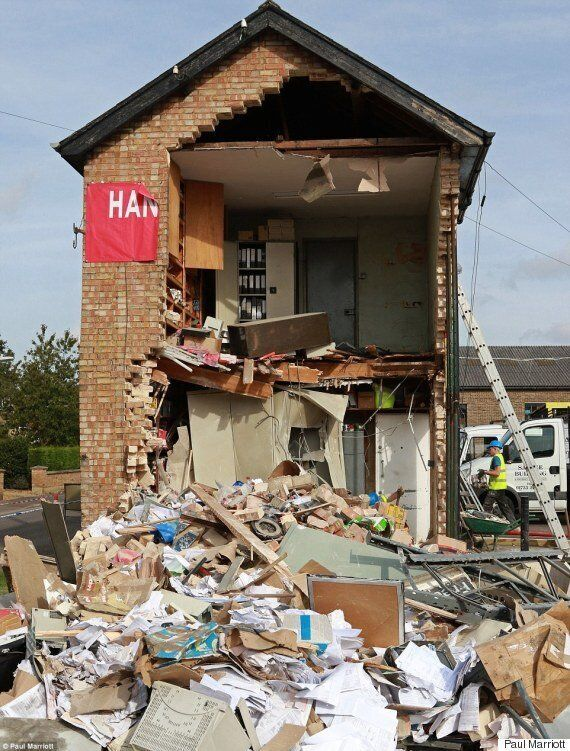Would-Be Thieves Demolish Whittlesey Building While Trying To Rip ATM Out Of Wall With