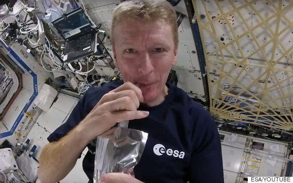 Astronaut Tim Peake Brews Coffee In