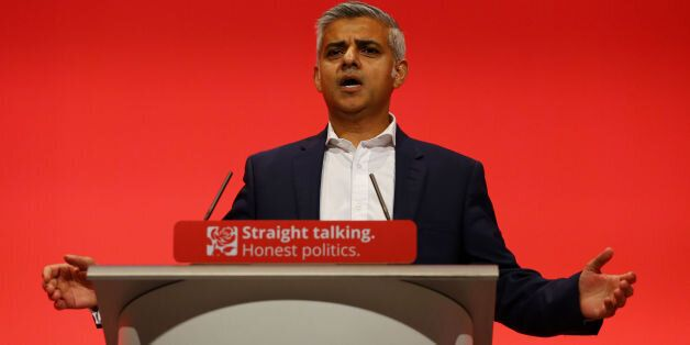 Sadiq Khan, Labour London Mayoral Candidate, delivers his speech on the final day of the Labour Party...