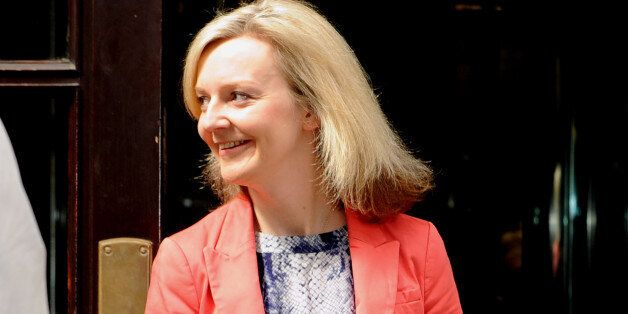 Newly appointed environment secretary Liz Truss outside the Department for Education, London, as Prime...