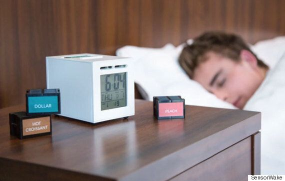 SensorWake Alarm Clock Wakes You Up With The Smell Of Money Or Fresh